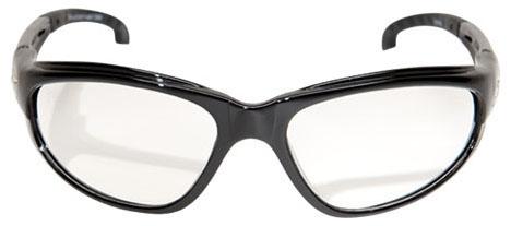 Edge Safety Eyewear Dakura Safety Glasses, Clear Lens, Gloss Black, Nylon Frame, Non-Polarized