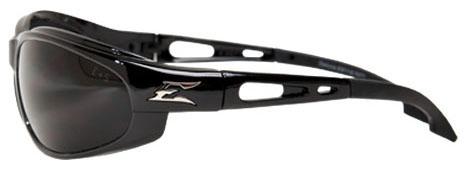 Edge Safety Eyewear Dakura Safety Glasses, Smoke Lens, Gloss Black, Nylon Frame, Non-Polarized