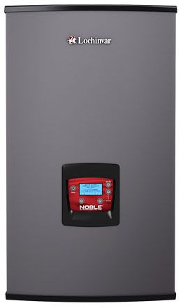 """Lochinvar Noble® Residential Fire Tube Boiler, 1"""" Supply/Return, 120 VAC 60 Hz 1-Phase, 144 MBH, 95% AFUE, 30 PSI, Lead-Free, Cast Iron, Direct Spark Ignition, Vertical and Horizontal Direct Vent, Natural, Floor Mount, Hot Water, High Efficiency"""