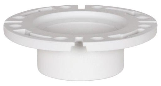 "4"" x 3"" PVC-DWV Flange, Closet, Reducing, Hub, White"