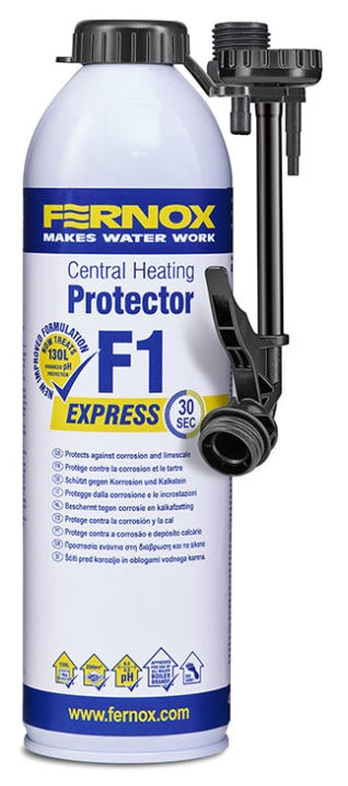 Fernox Light Brown Central Heating Protector, 400 ML Express Can, Corrosion, Non-Toxic, Aerosol