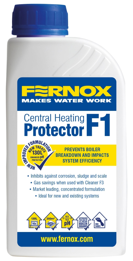 Fernox Light Yellow Central Heating Protector, 500 ML Bottle, Corrosion, Non-Toxic, Liquid