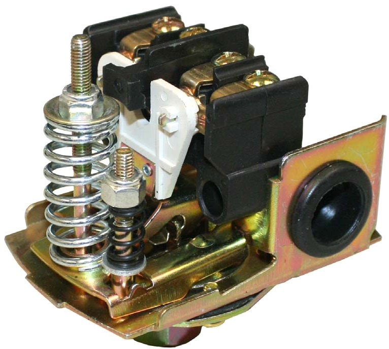 "Merrill Pressure Switch, 1/4"" FPT, 30 PSI Preset-On, 50 PSI Preset-Off, Lead-Free, Adjustable"