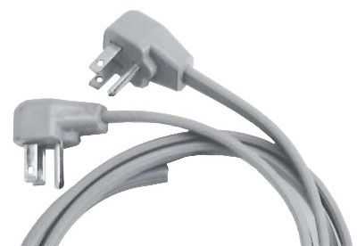 6' Pigtail Power Cord Angled (E25-018)