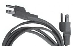 6' Pigtail Power Cord Straight (E25-016)