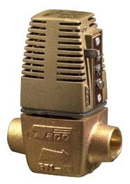 "Taco Gold Series Heat Motor Zone Valve, NC, 24 VAC .9 A Screw Terminal, 3/4"" Solder, 6.1 Cv, 28 PSI Close Off, End Switch"