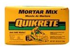 Quikrete Gray Mortar Mix, 60 Lb Bag, Construction Grade, Pre-Blended