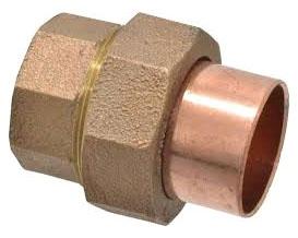 "3/4"" Copper Cast Sweat Union 10056664"