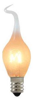 BULBRITE (411006) SF/6S6 6W 120V CANDELABRA (E12) BASE SILICONE FLAME TIP S6 INCANDESCENT LAMP
