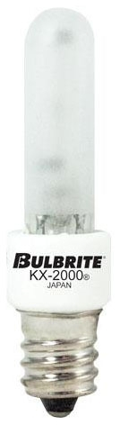 BULBRITE (473041) KX40FR/E12 40W 120V 2700K CANDELABRA (E12) BASE FROSTED KRYPTON/XENON T3 LAMP