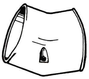 SLIMDUCT INABA   45 DEG VERTICAL ELBOW (20/CS)