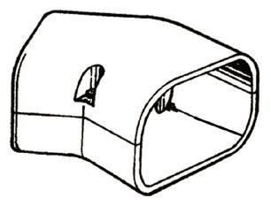 SLIMDUCT INABA   45 DEG FLAT ELBOW (10/CS)