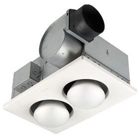 BROAN 164 Two-Bulb Heater/Fan,Broan
