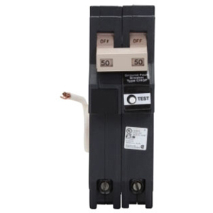 ch CH220GFT CH TYPE BR 5 MA GFI BREAKER 20A/2 POLE 120/240V 10K_SELF TEST