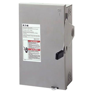C-H DG321NGB 30A 3P 240V GENERAL DUTY NEMA1 FUSIBLE SAFETY SWITCH WITH NEUTRAL USE CLASS H OR K FUSES