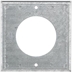 """HUB HBL50SC BOX COVER, 4"""" SQ, 50A"""