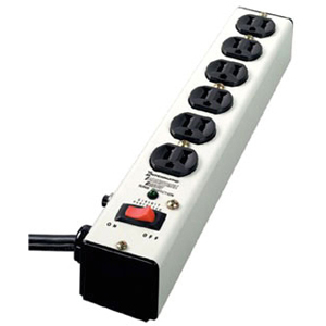 IG112663 METAL SURGE STRIP WITH 6 OUTLETS, EMI/RFI FILTER, LIGHTED SWITCH, 6 FOOT CORD. ANSI/UL1449 3RD EDITION.