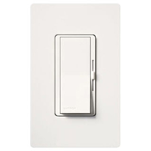 DVELV-300P-WH LUTRON WHITE 300W 1 POLE ELECTRONIC PRESET LOW VOLTAGE DIMMER WITH NIGHTLIGHT