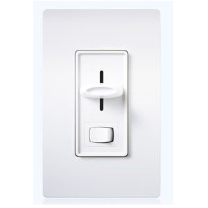 SFTU-5A3P-WH  WHITE 1 POLE/ 3 WAY ELECTRONIC FLUORESCENT SLIDE DIMMER