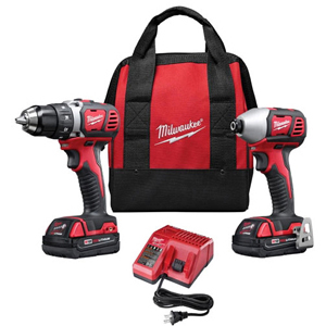 MIL 2691-22 (PROMO) M18 18V DRILL/IMPACT COMBO KIT WITH BAG PLUS (1) FREE (48-11-1820) M18 REDLITHIUM 2.0AH BATTERY