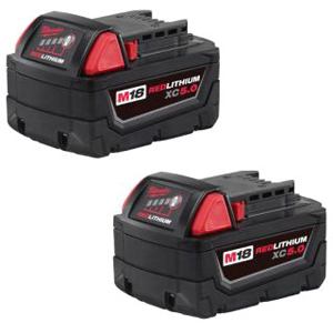 MIL 48-11-1852 MIL M18 RED LITHIUM 5.0AH BATTERY (2 - PACK)