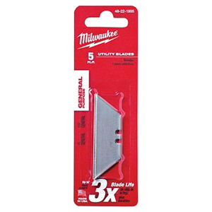 MIL 48-22-1905 (PROMO) 5PK UTILITY BLADE REFILLS **FREE GOOD - ONLY WHEN YOU BUY (1) 48-22-1910 KNIFE