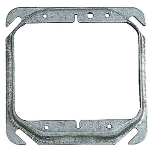 SC 52-C-17-25 4IN SQUARE TWO DEVICE 1/2IN RAISED COVER