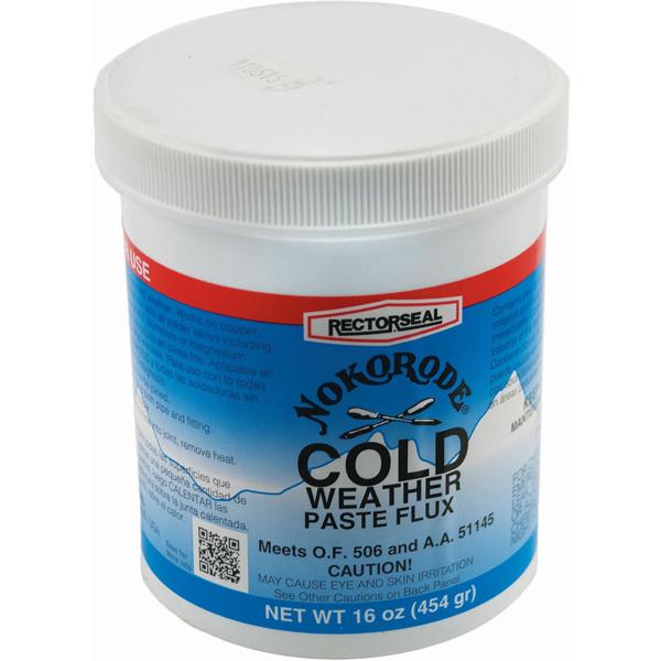 Cold Weather Soldering Paste Flux - NOKORODE, Tan / Gold to Black, 1 Lb
