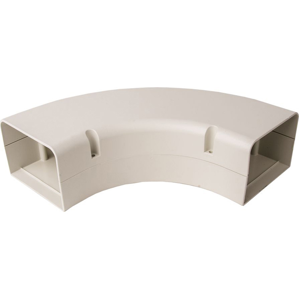 "4"" Ductless System Bend with Stainless Steel Screw - SpeediChannel, Ivory, 90D Long Radius"