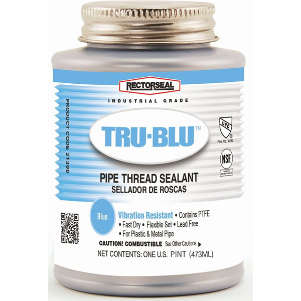 Pipe Thread Sealant, Lead-Free Blue