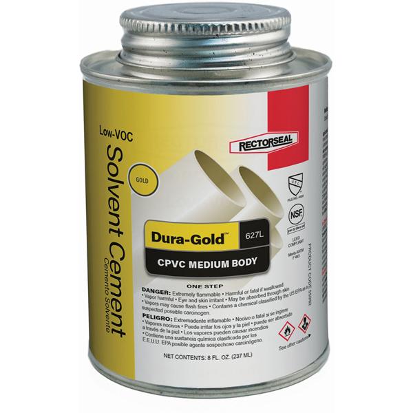 """1/2"""" Medium Solvent Cement, Gold"""
