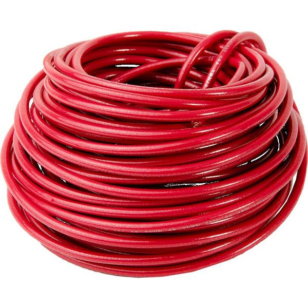 12 AWG 48' Stranded THHN Hook-Up Wire - DEVCO, Nylon Jacket, Red PVC Insulation, 600 V