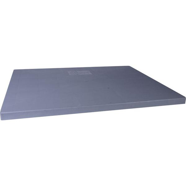 """36"""" x 48"""" x 3"""" Condenser Equipment Pad - E Lite, Concrete Grey, Plastic"""