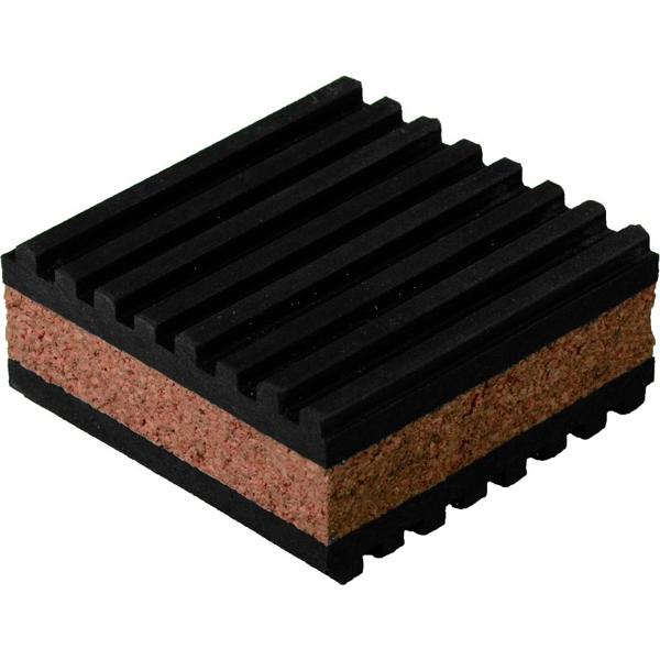 2 X 2 Cork Anti Vibration Pad, Rubber