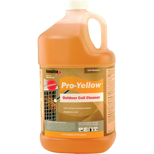"1"" Liquid Refrigerant Coil Cleaner, Yellow"