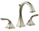 Brizo 65330LF-BN Virage Bathroom Faucet Double Handle Widespread With Metal Lever Handles, Brushed Nickel