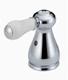 Delta H277 Faucet Leland, Two Porcelain Lever Handle Kit, Chrome
