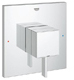 Grohe 19924000 Eurocube 7 1/4 Inch Single Function Pressure Balance Trim with Control Module
