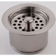 Jaclo 2829-PN X-Deep Disp Flange With Strainer, Polished Nickel