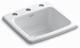 Kohler K-6015-3-0 Gimlet Self-Rimming Entertainment Sink, White