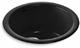 Kohler K-6565-7 Porto Fino Self-Rimming Undercounter Entertainment Sink, Black