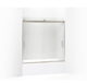 Kohler K-706002-D3-MX Levity Bypass Bath Door With Handle And 1/4-Inch Frosted Glass In Matte Nickel