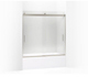 Kohler K-706001-L-MX Levity 1/4 Bath Door 59-3/4 X 57 Handle