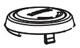 Moen 100023 Chateau Handle Cap Kit, Chrome