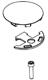 Moen 115023 Handle Cap Kit - Chrome