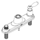 Moen 115042SL Escutcheon & Gasket Kit - Stainless