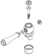 Moen 116953ORB Handle Hub Kit - Hot, Oil Rubbed Bronze