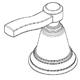 Moen 137388BN Part Widespread Handle Kit, Hot Cold, Brushed Nickel