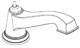 Moen 137392BN Part Roman Tub Diverter Spout, Brushed Nickel