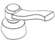 Moen 137397 Orb Handle Assembly In Oil Rubbed Bronze